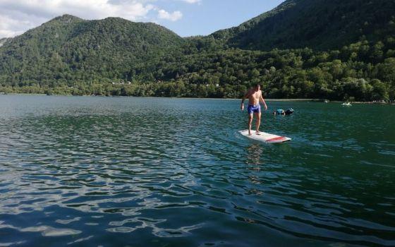 Škola plivanja na Boračkom jezeru