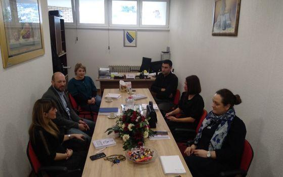 "Posjeta predstavnika novoformirane Službe za hraniteljstvo JU ""Kantonalni centra za socijalni rad"" Sarajevo"